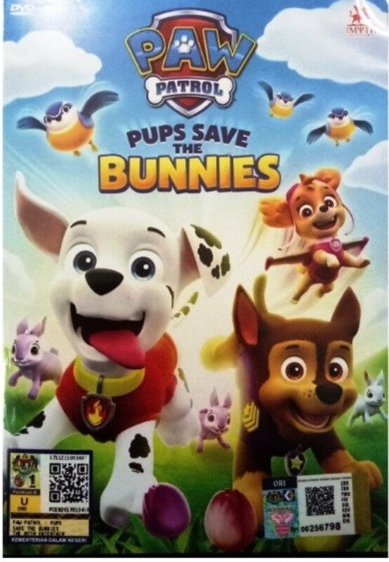 Paw Patrol Pups Save The Bunnies Anime DVD