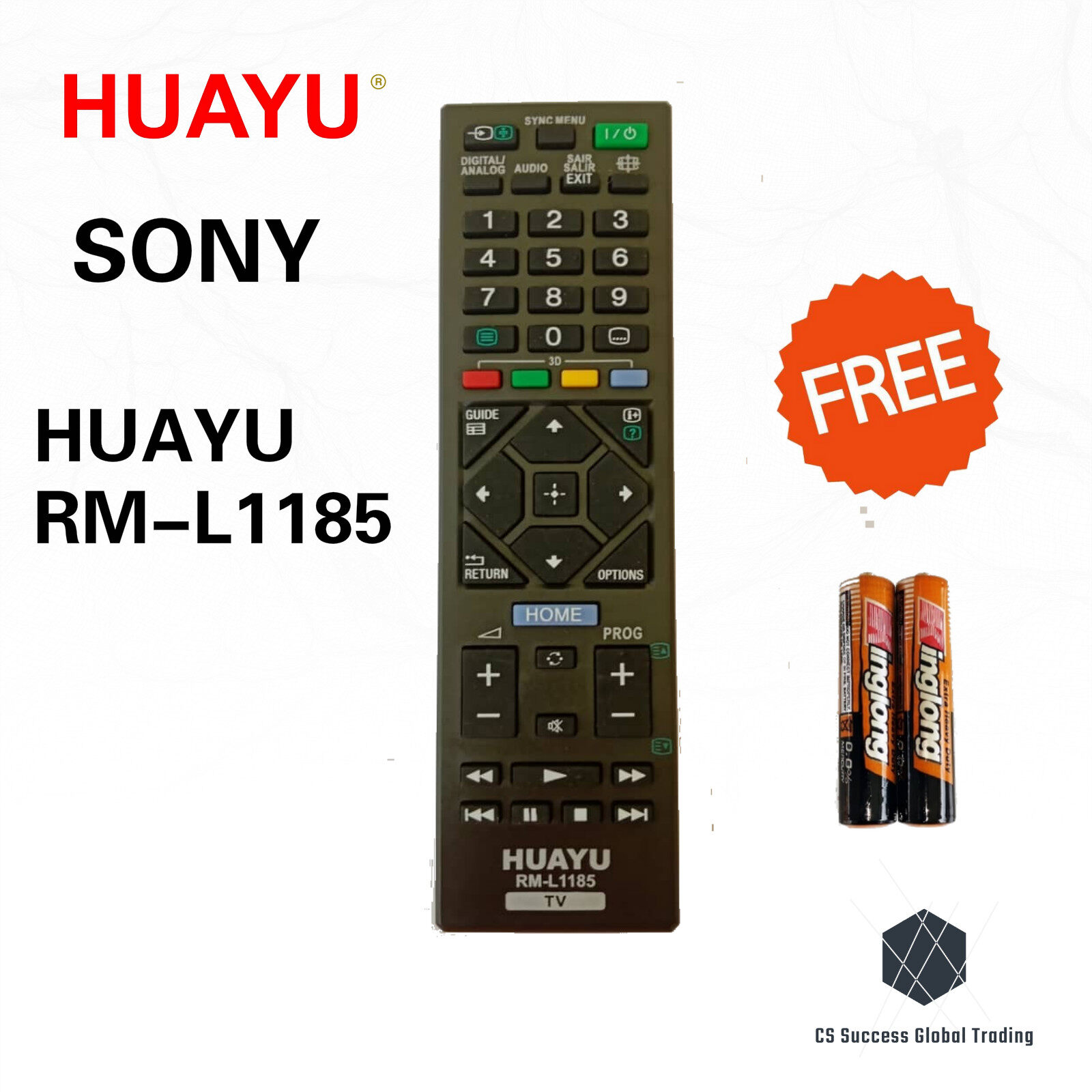 HUAYU SONY RM-L1185 COMMON LCD/LED TV REMOTE CONTROLER