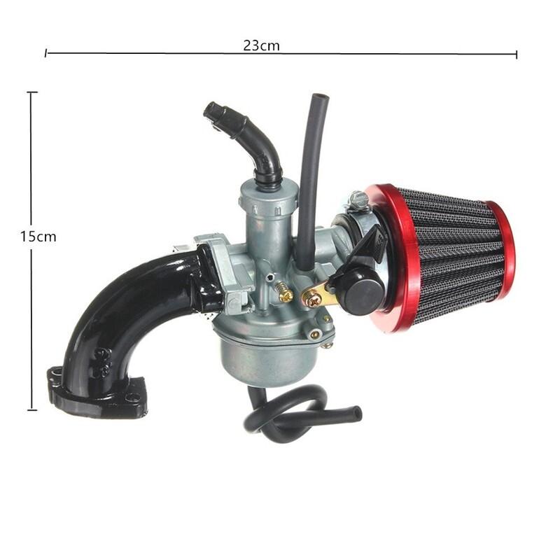 Automotive Tools & Equipment - 22mm Carb Carburetor Air Filter Intake Pipe For 110cc 125cc Pit Dirt Bike - Car Replacement Parts