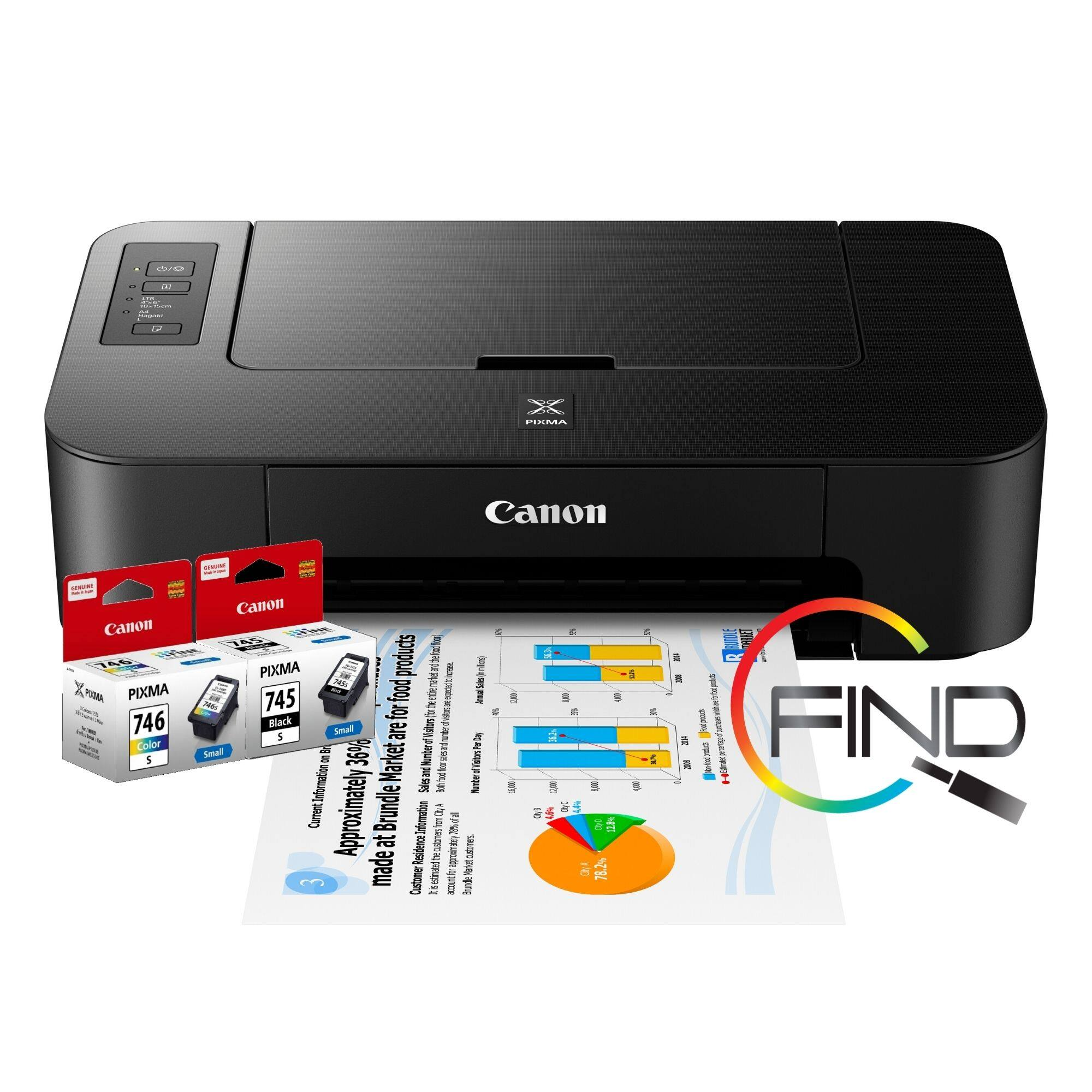 CANON PIXMA TS207 SINGLE-FUNCTION PRINTER Support 4R Borderless Photo Printing (FINDC)