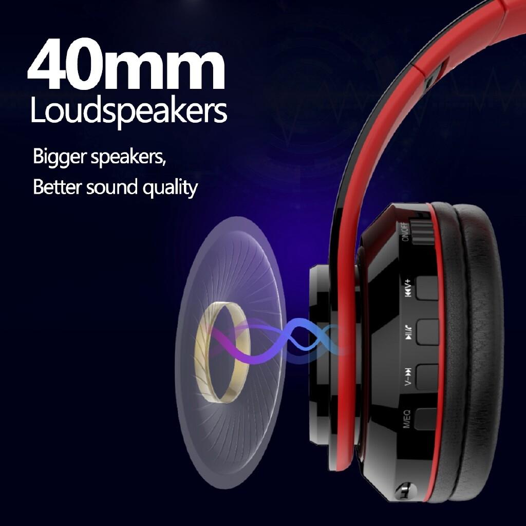 Over-Ear Headphones - LED BLUETOOTH 5.0 Head SET Foldable Earphones E-sports Game WIRELESS Headphones-3c - Audio