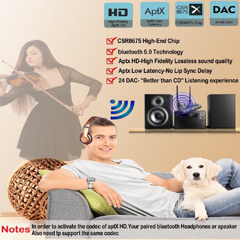 Car Radios - 3In1 BLUETOOTH V5.0 Receiver Transmitter NFC HiFi Audio Adapter Long Range - Electronics