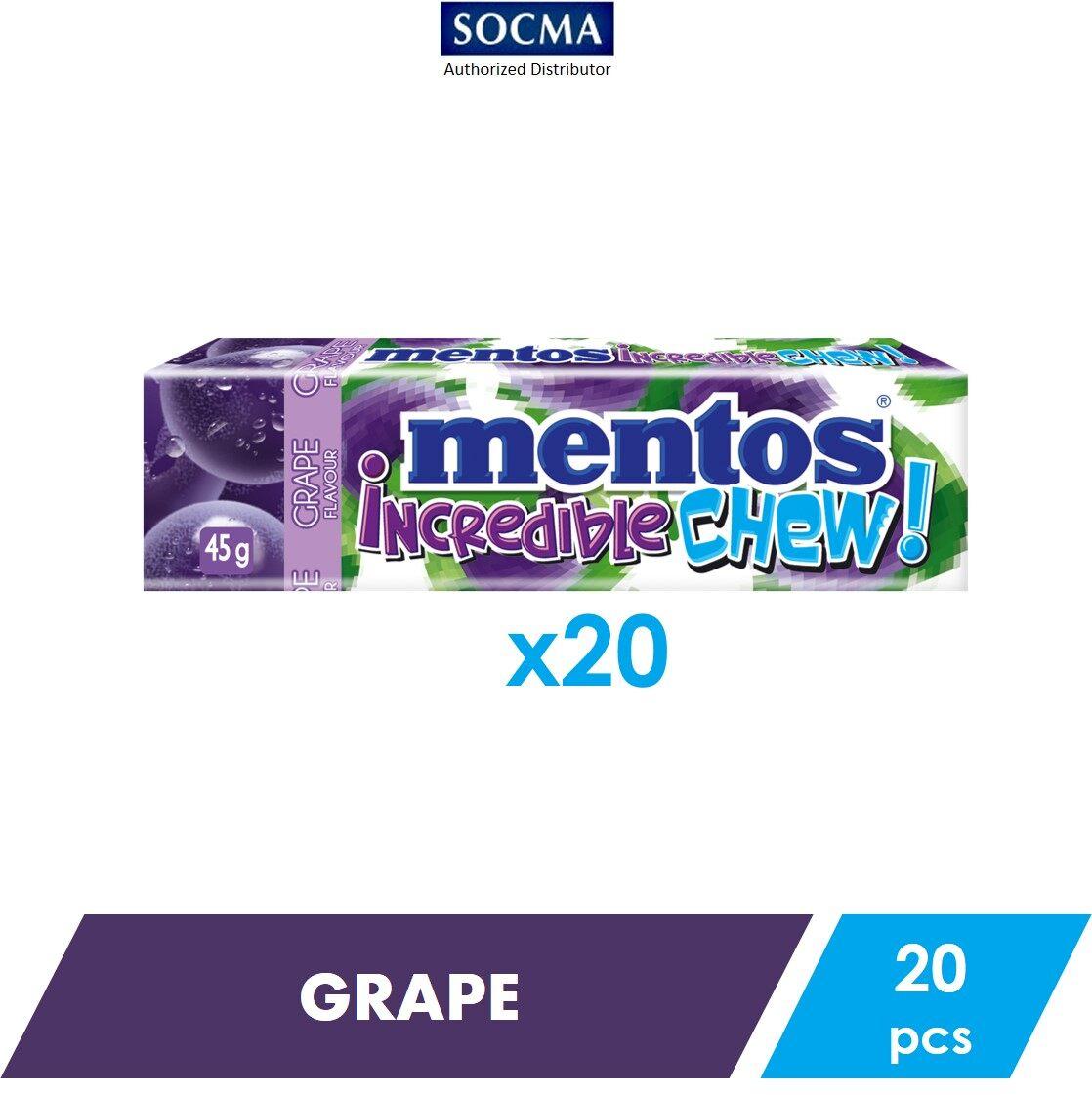 Mentos Incredible Chew Grape 45g [20]