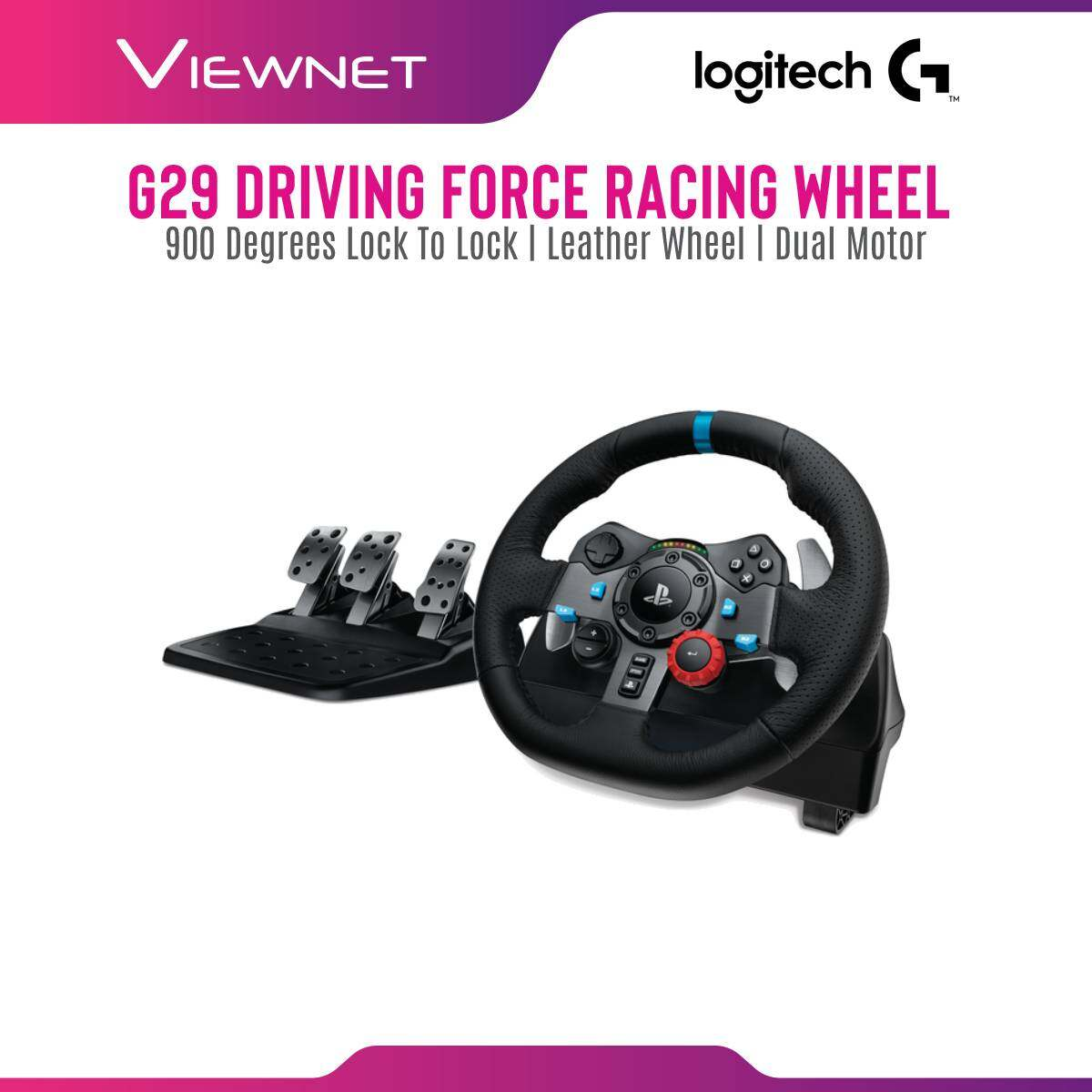 LOGITECH G29 DRIVING FORCE RACING WHEEL FOR PS4,PS3 AND PC