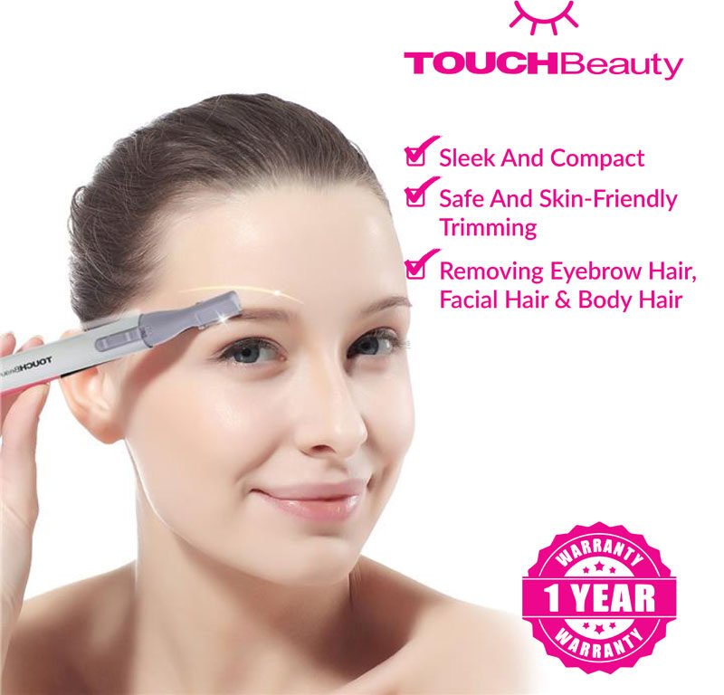 TOUCHBeauty Electric Lady's Shaver TB-815  Electric Eyebrow Razor Lady's Eyebrows /facial hair/body Hair Trimmer Beauty Tools Epilator/Double-sized comb and brush/The Hypo-allergenic Stainless Steel trimmer head