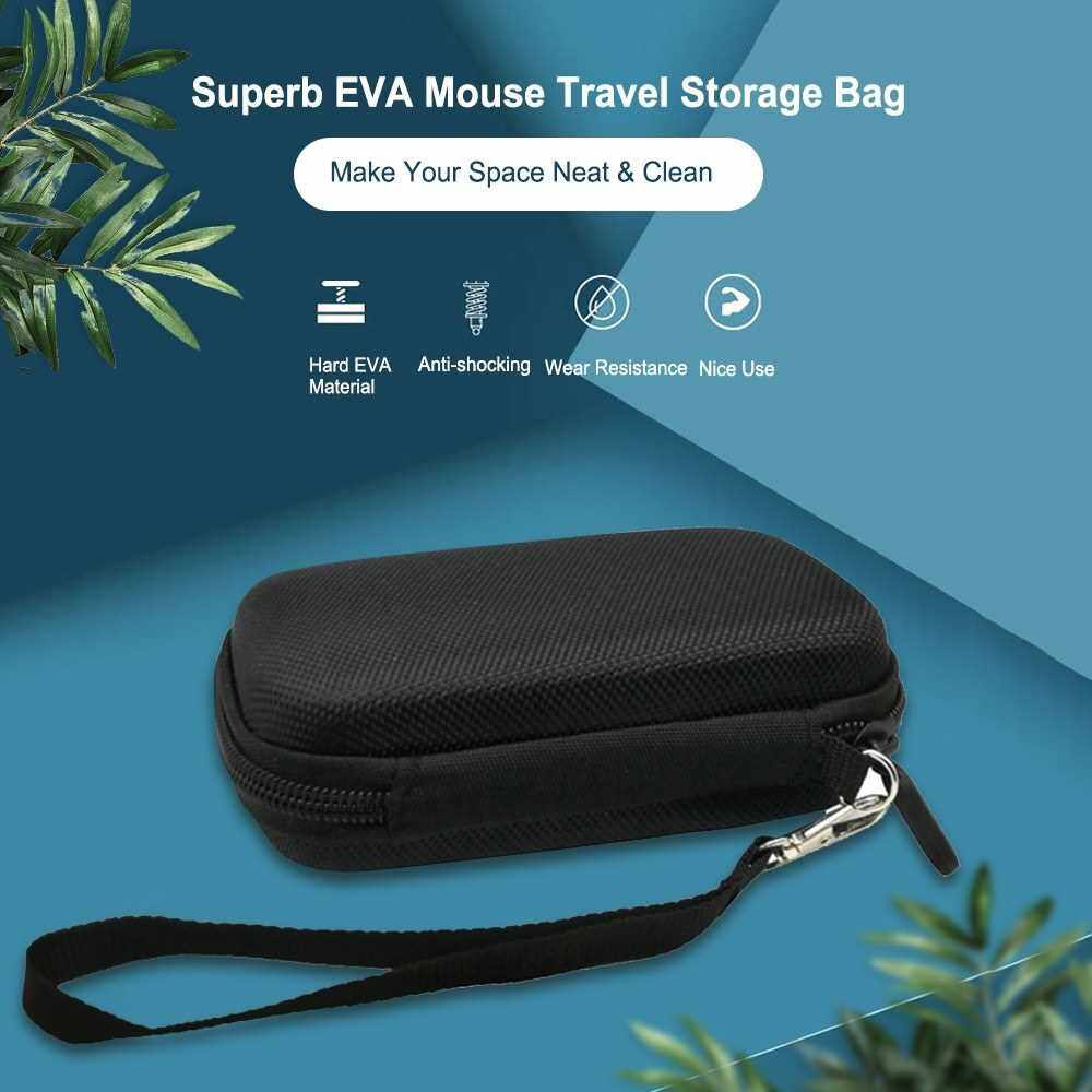 EVA Mouse Travel Storage Bag Box Portable Protective Cover with Hand Sling Anti-shocking Wear Resistance Compatible With Apple 1/ 2 Generation Universal Mouse For Travel Business Trip (Standard)
