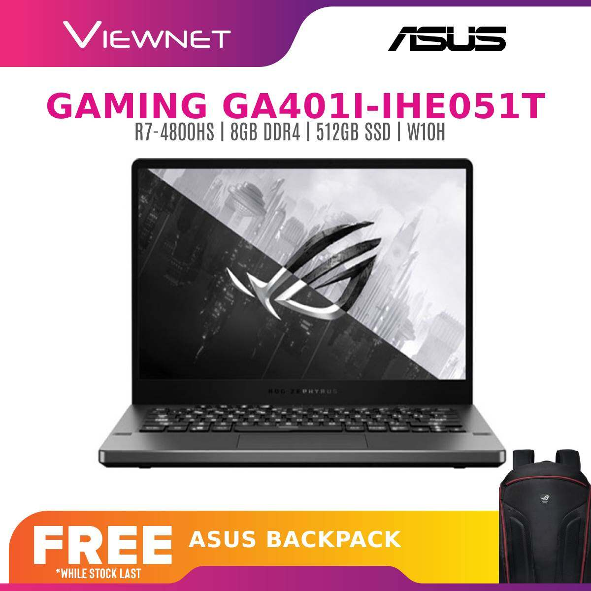 ASUS ZEPHYRUS G14 GA401I-IHE051T 14'' FHD 120HZ GAMING LAPTOP ( RYZEN 7 4800HS, 8GB, 512GB SSD, GTX1650TI 4GB, W10 )