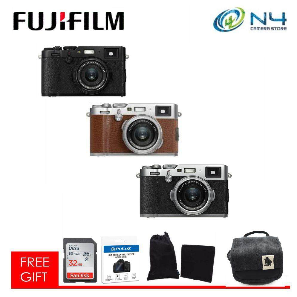 Fujifilm X100F + 32GB SD Card + Template Glass +  Microfiber Case & Cloth + Camera Bag (Original Fujifilm Warranty)