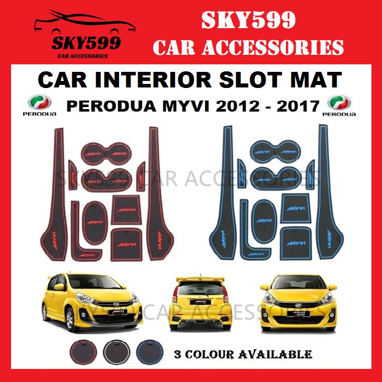 Perodua Myvi 2011-2017 Interior Slot Mat Storage Tank Mat ?10pcs/Set?