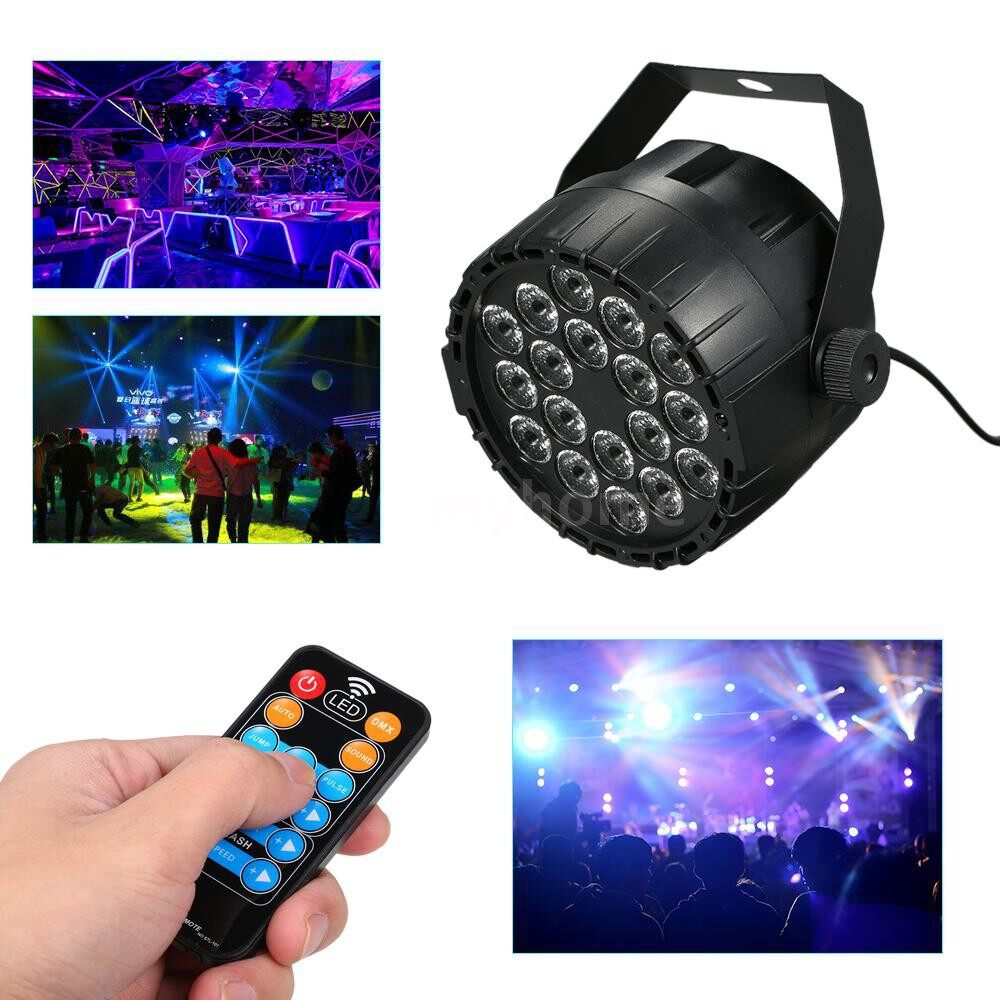 Lighting - 18 LEDs RGBW Stage Light MINI Par Lights DMX 512 Dream Color Lighting Indoor Disco Lamp for Club DJ - Home & Living