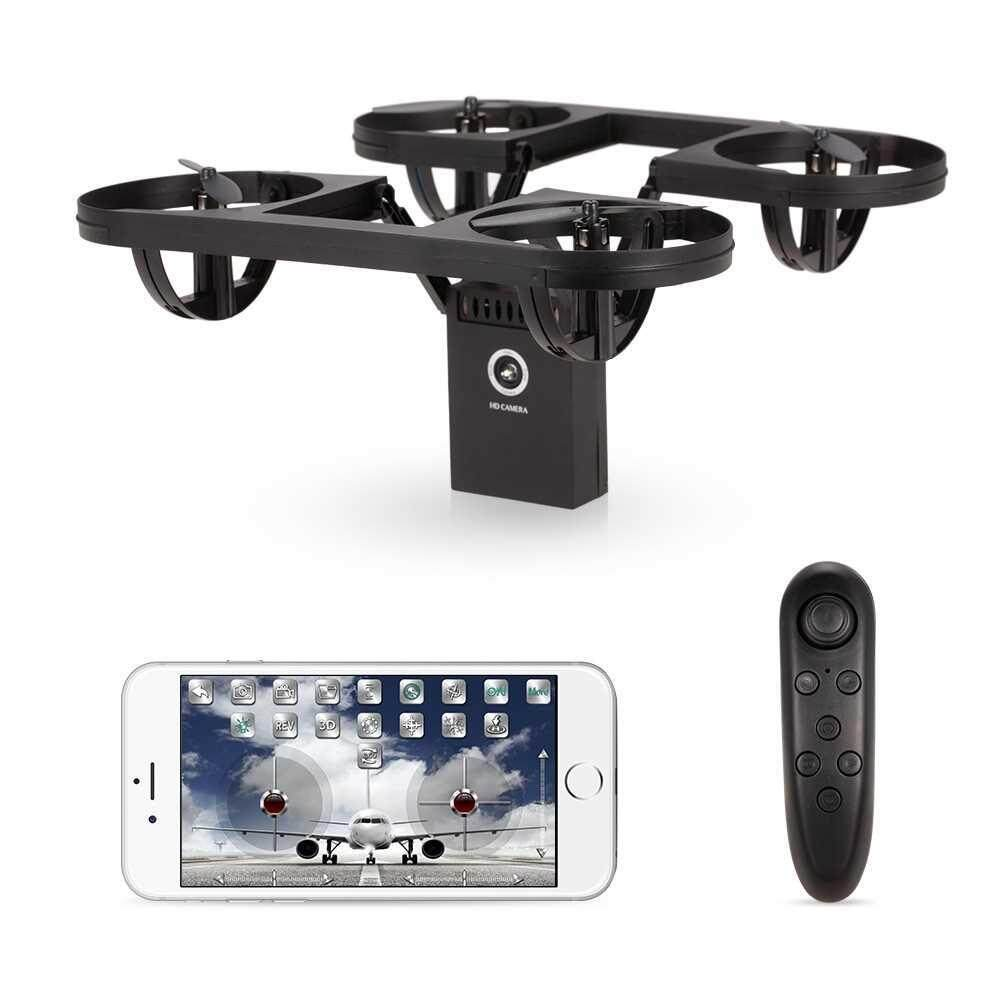 People's Choice TYRC TY6-1 Foldable 2.0MP Camera Wifi FPV Drone Gravity Sensing Control Altitude Hold Headless Mode RC Quadcopter (Black)