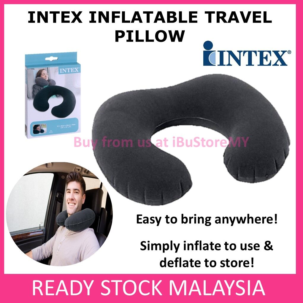 Intex Inflatable U Shaped Neck Pillow Intex Travel Pillow Sleep Nap Air Cushion Head Rest