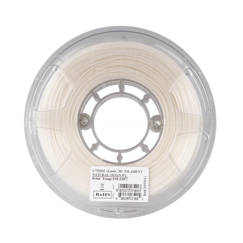 Printers & Projectors - eLastic TPE 85A 1.75mm Flexible 3D Printer Filament Natural White Material Refills 1kg - #