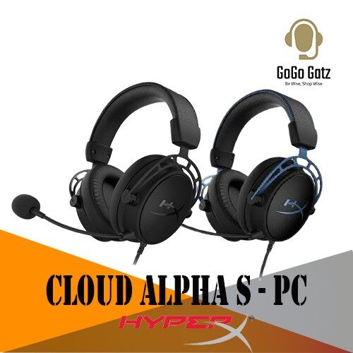 {HX-HSCAS}{Ship Out Within 24 Hours} HyperX Cloud Alpha S Gaming Headset with HyperX 7.1 Surround Sound (Black/Blue)