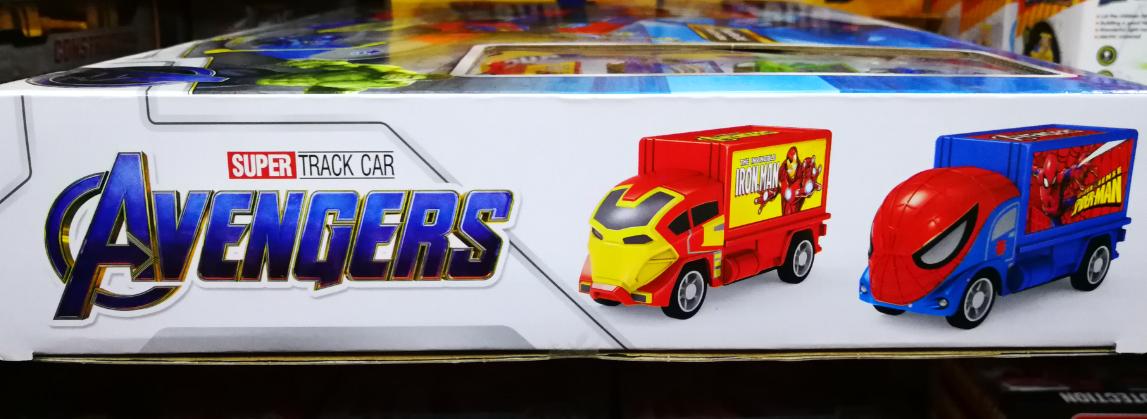 Kids Toy - Avengers Super Track Car Toys Set For Kids