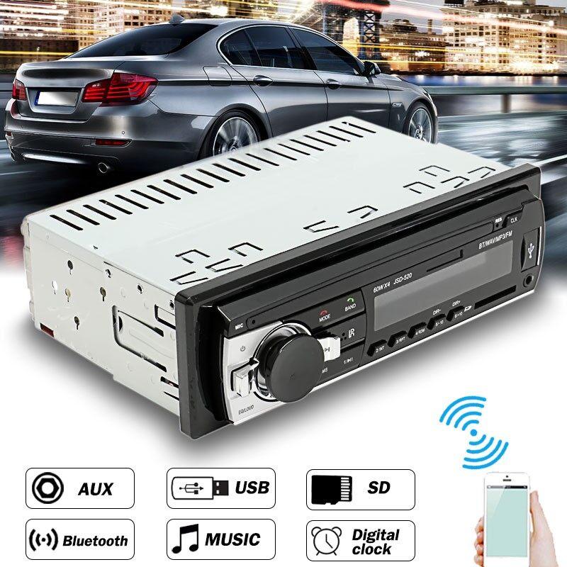 Car Radios - Radio BLUETOOTH Stereo Head Unit Player MP3/USB/SD/ AUX-IN / FM In-dash IPod Car - Electronics