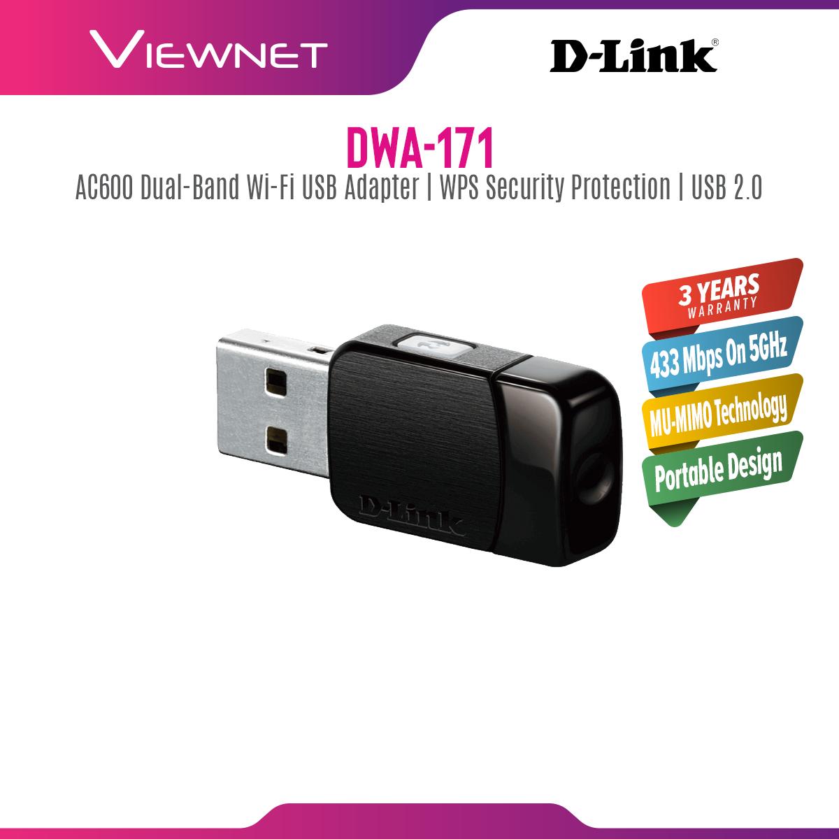 D-Link DWA-171 Wireless AC 750Mbps Dual-Band USB Adapter (MiNi Size)