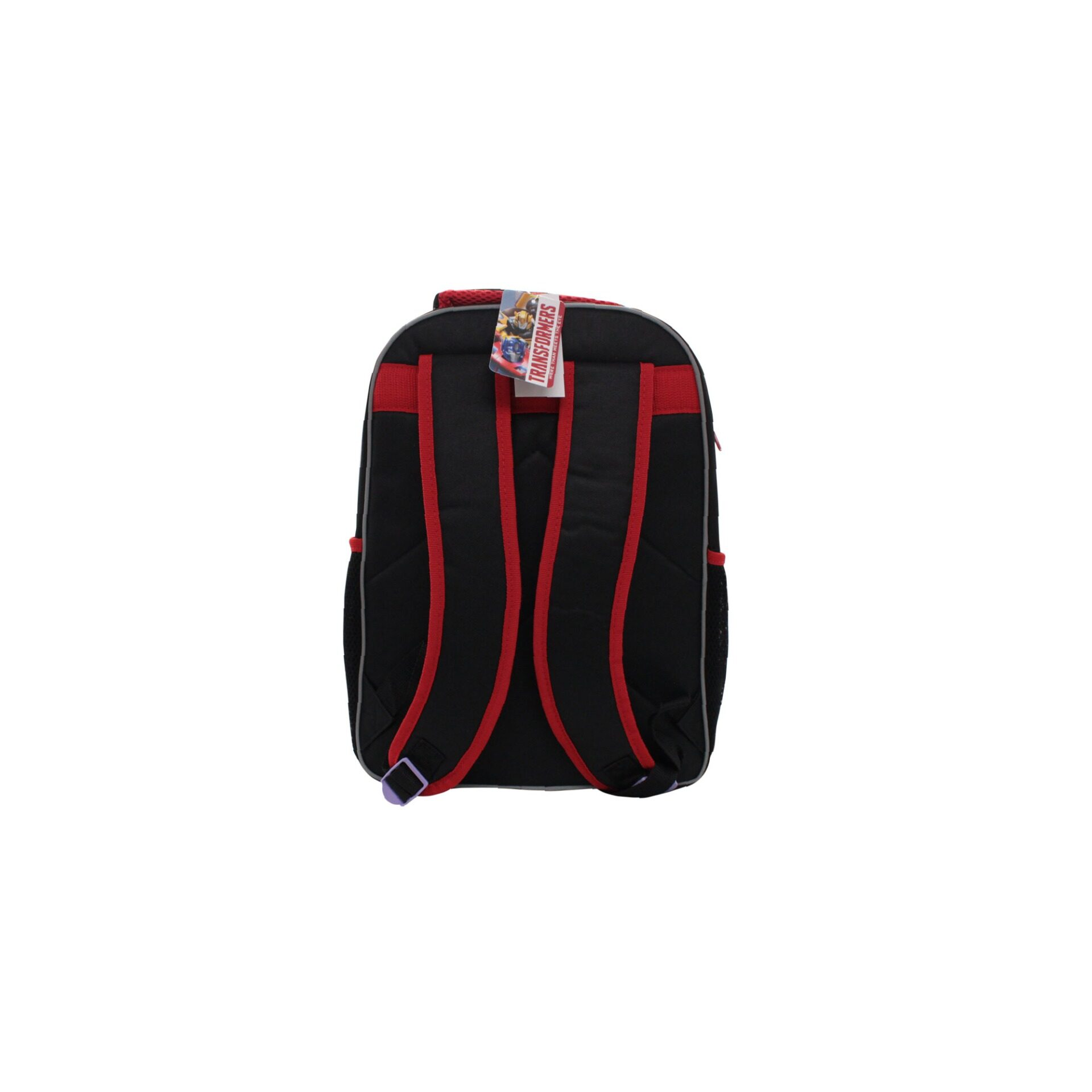 Transformers Decepticons School Bag With Front Zipper Pouch Kid's Boys Pre School Bag (Grey & Black) Age 7 Years & Above