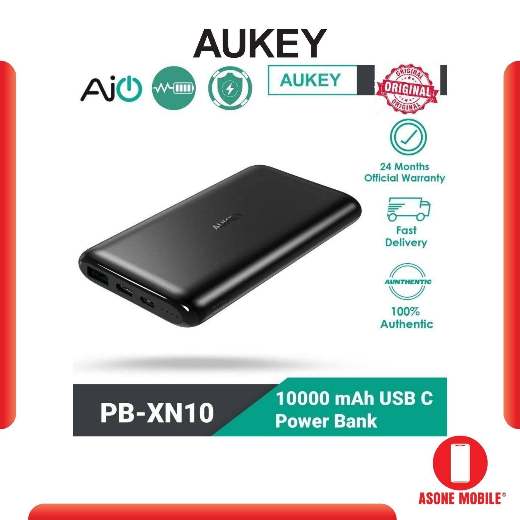 Original Aukey PB-XN10 USB-C Power Bank (10000mAh) 2 year warranty