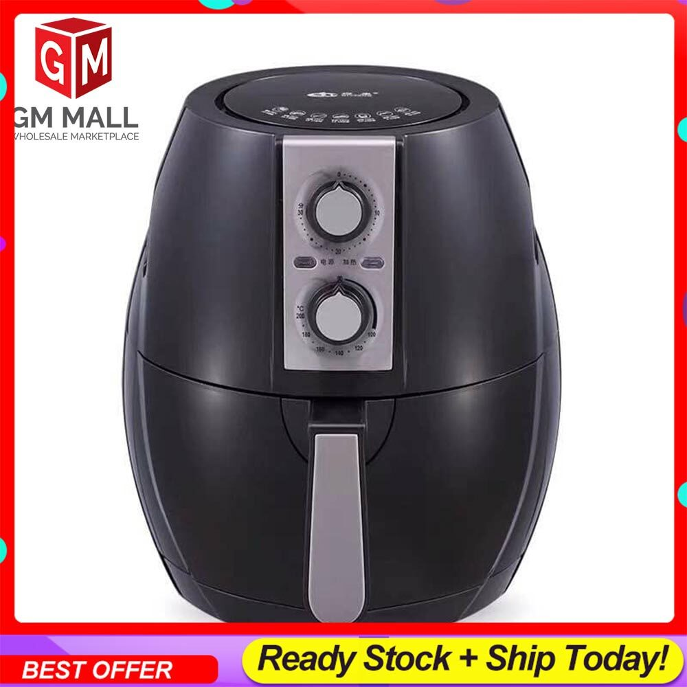 EXCLUSIVE High Quality Air Fryer Oil Free Single Pod Non-Stick Kitchen Aid Healthy Cooker Large (6L)
