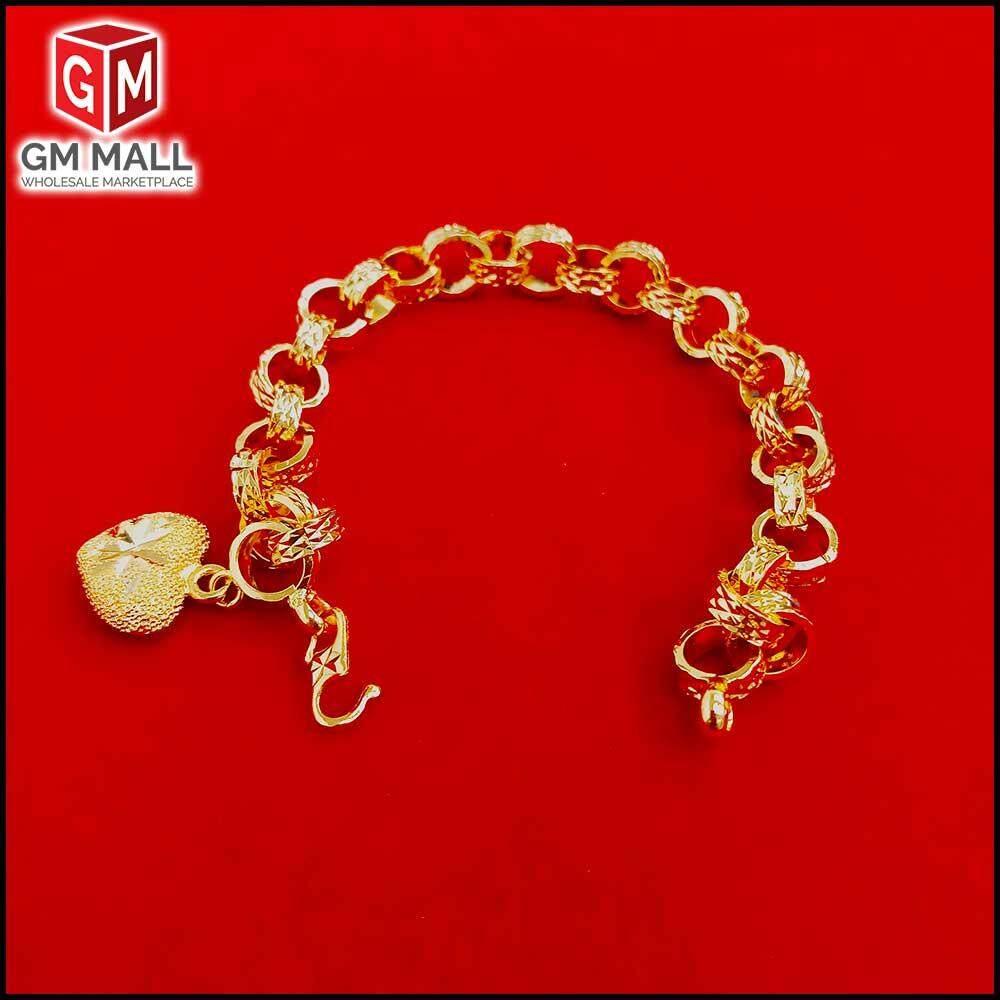 Emas Korea Jewellery - Gelang Tangan Audi Kikir + One Love (EK-2033-6)