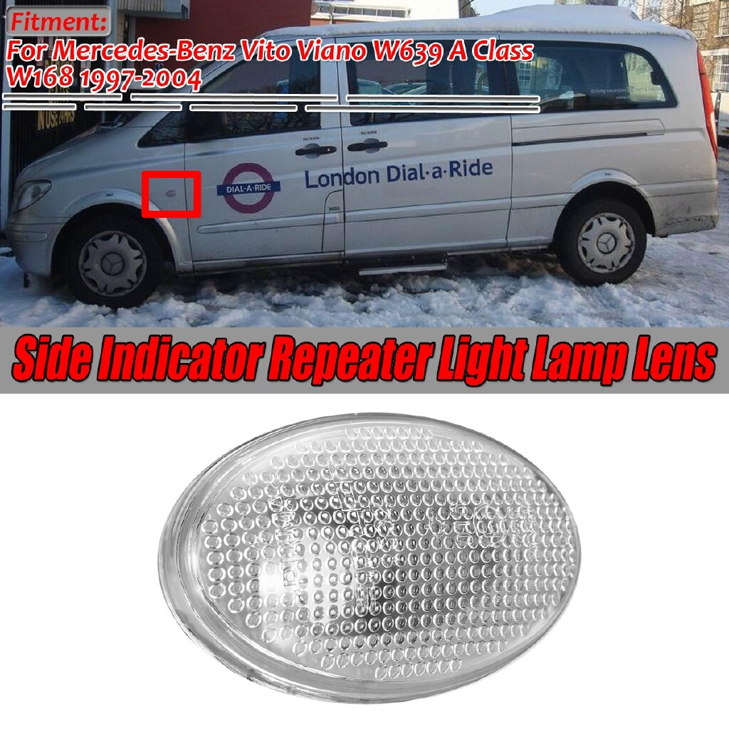 Car Accessories - for Mercedes Vito Viano W639 A Class W168 Side Indicator Repeater Light Lens - Automotive