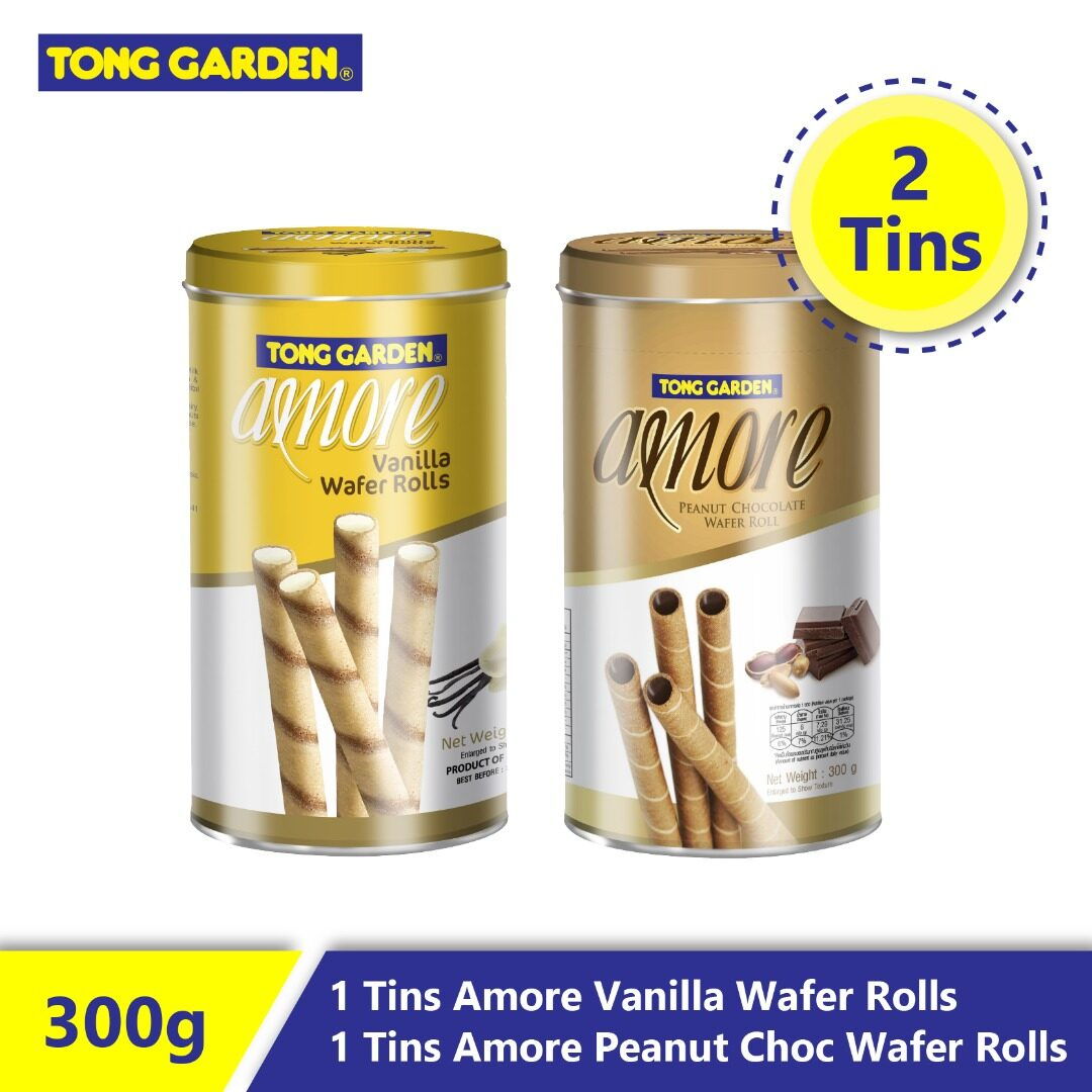 Tong Garden Amore Wafer Rolls 300g x 2 [Bundle]