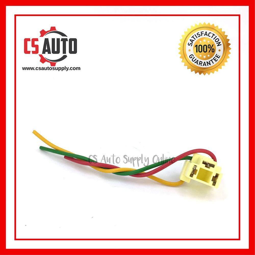 [cs auto] Head Lamp Socket Bulb Holder H4 Plastic Holder Connector Adapter Wire