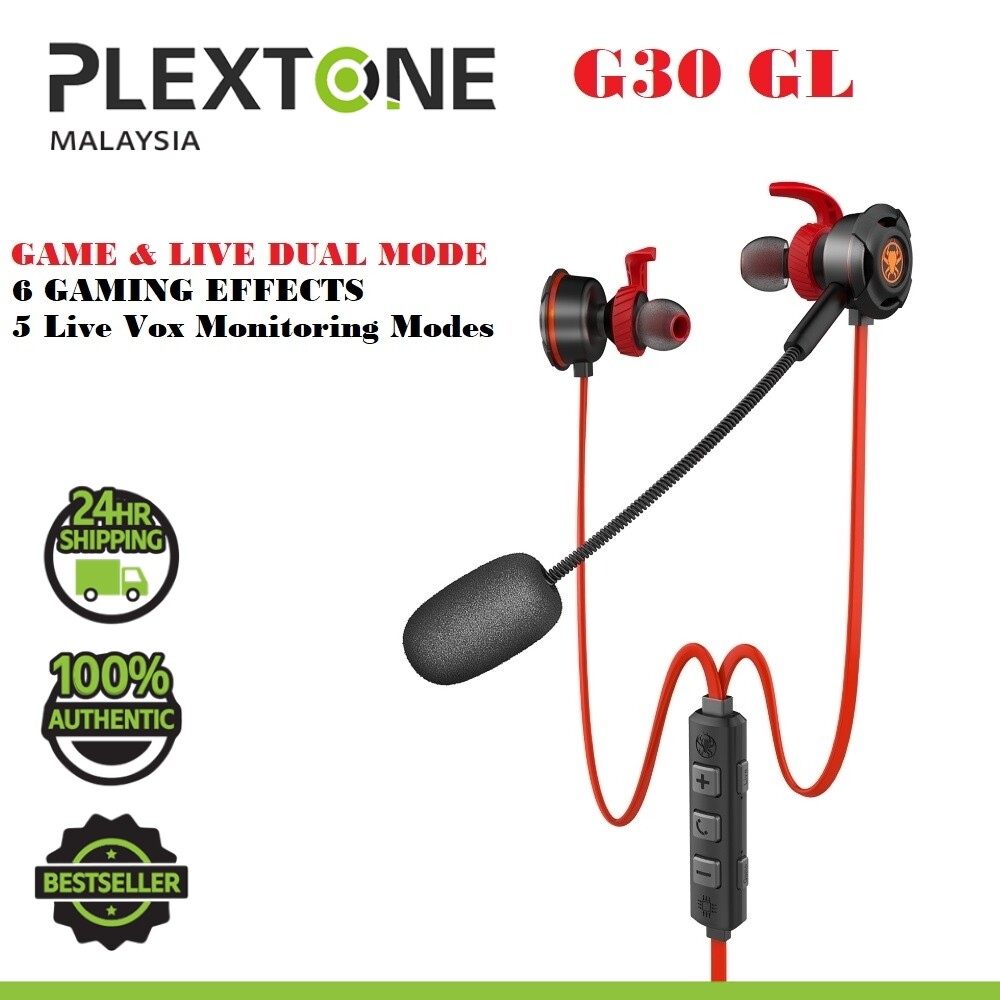 PLEXTONE G30 GL TYPE C Game Live Upgraded Dual Mode DSP Earphones Gaming Headset Headphone with HD Microphone 6 Gaming Effects PUBG for Phone Tablet Pad HUAWEI XIAOMI SAMSUNG REALME PIXEL