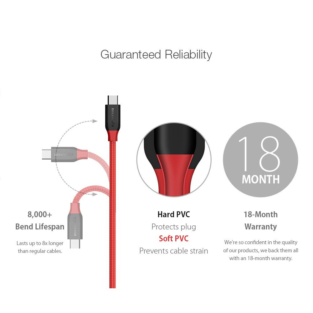 Android Cables - BW-MC5 micro USB Date Cable 1.8m - GREY-BLACK / BLACK-RED