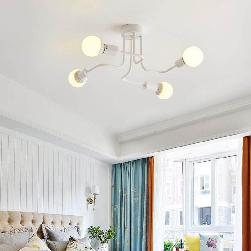 Bintang LED Retro Lampu Plafon 4 Kepala Lampu untuk Rumah Restoran Makan Malam Cafe Ruangan Bar Dekorasi