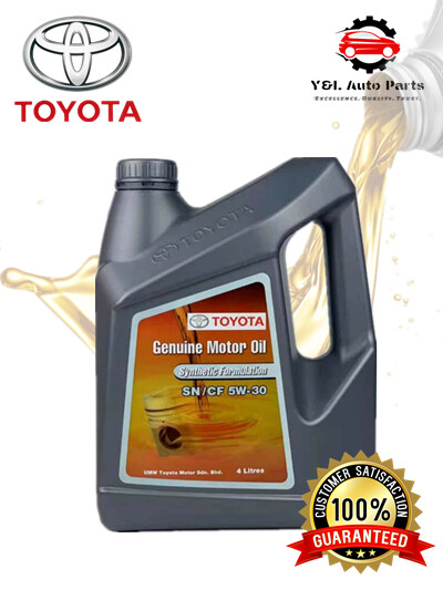 Toyota SN/CF 5W30 Engine Oil Semi Synthetic Formulation Minyak Enjin Toyota