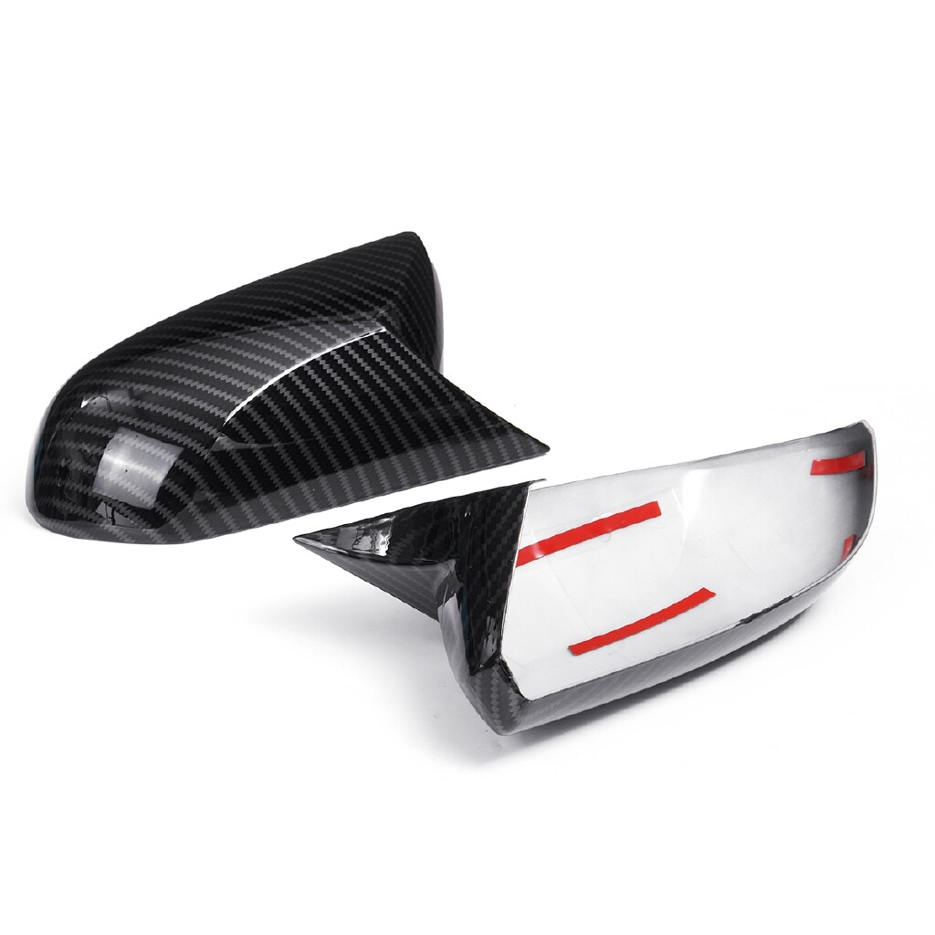 Engine Parts - Carbon Fiber Style Rear View Side Mirror Cover For Toyota Avalon 18 C-HR 16-18+ - Car Replacement