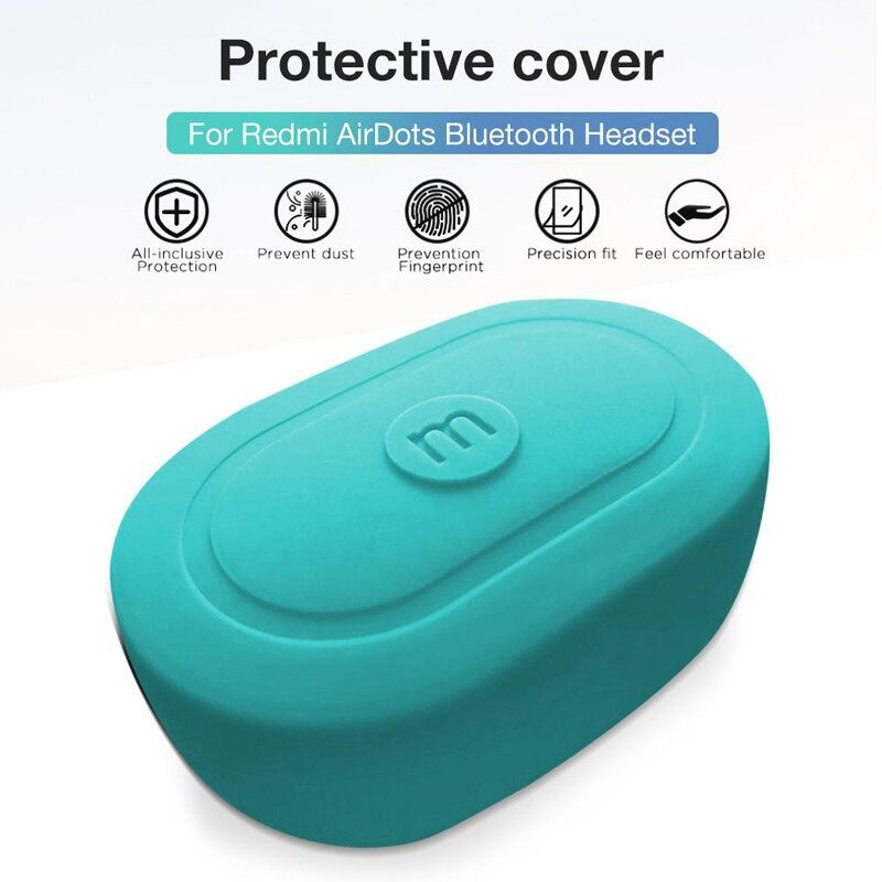 Xiaomi Redmi AirDots Perfect Fit WIRELESS BLUETOOTH Earphone Case Cover - BLACK-REDMI AIRDOTS / BLACK-XIAOMI AIRDOTS / LIGHT BLUE-REDMI / LIGHT BLUE-XIAOMI / PINK-REDMI AIRDOTS / PINK-XIAOMI AIRDOTS / GREEN-REDMI AIRDOTS / GREEN-XIAOMI AIRDOTS / DARK