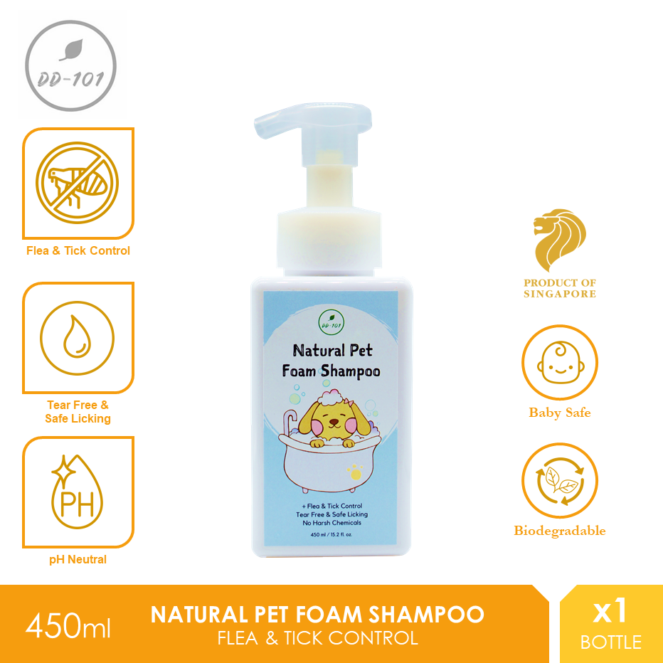 DD101  Natural Pet Foam Shampoo 450ml [Cat Dog Syampu Kucing Anjing]
