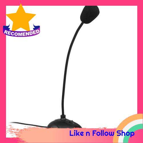 Computer Microphone Desktop Capacitive Microphone Wired Microphone 3.5mm Interface for Lecture Conference Voice Chat (Standard)