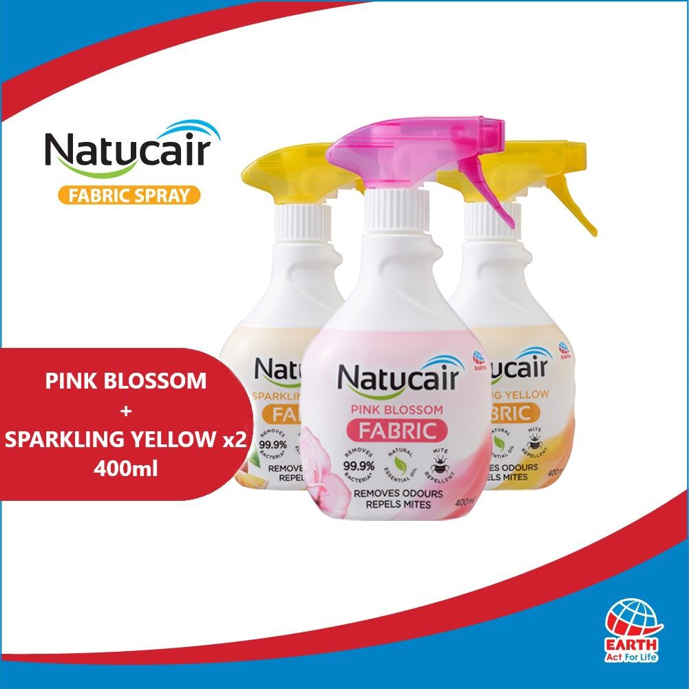 Natucair Fabric Spray Assorted Variants Bundle of 3 [400ml x3]EHB000012i