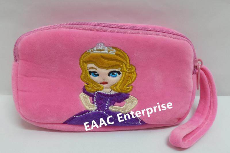 Cute Cartoon Princess Sofia Plush Pencil Box Case