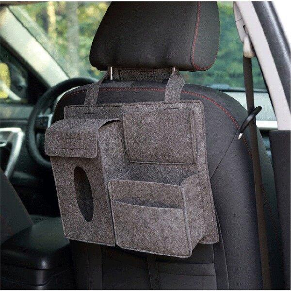 Túi len đa năng đựng đồ uống khăn giấy điện thoại treo sau ghế ô tô - INTL