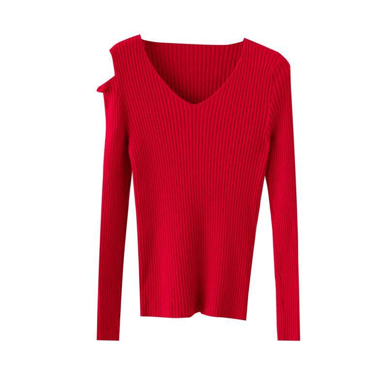 (Pre Order14 Days JYS Fashion Korean Style Women Knit TopCollection526-8196col525a-8196--Red- One size