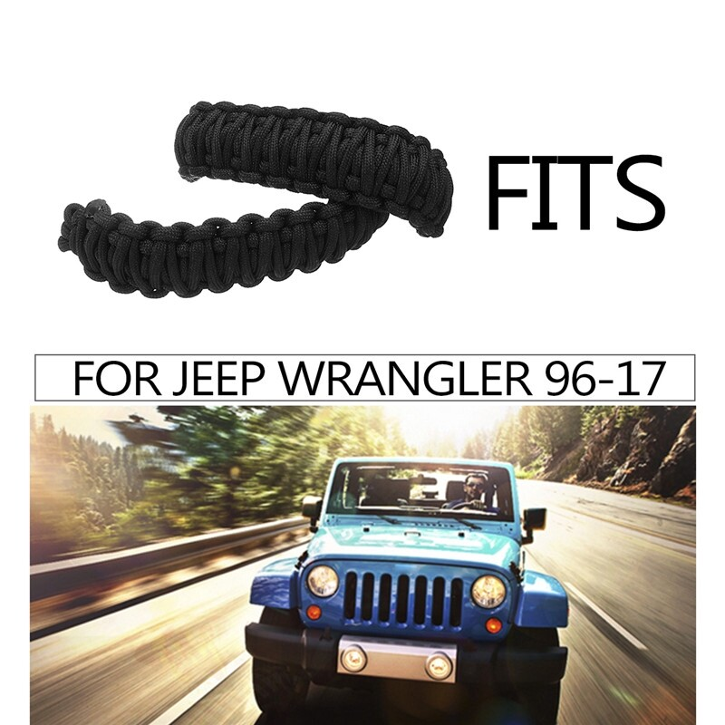 Engine Parts - 2 X Door Limiting Strap Hinge Durable Replace For Jeep Wrangler CJ YJ TJ - Car Replacement