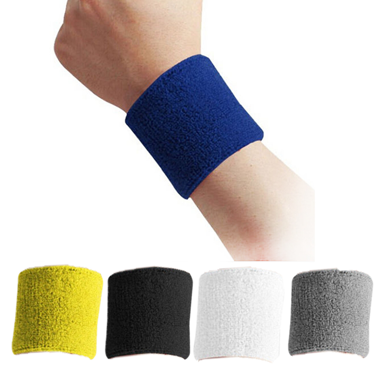 1PCS Cotton Protective Wristbands Sport Sweatband Hand Band Sweat Wrist Support Brace Wraps Gym Volleyball Basketball 15114826