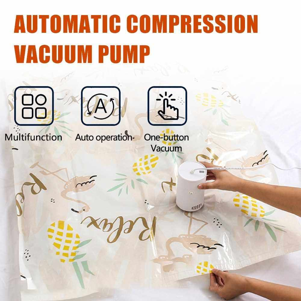 Best Selling Portable Automatic Compression Vacuum Pump for Clothes Food Storage Bags and Kitchen (Eu)
