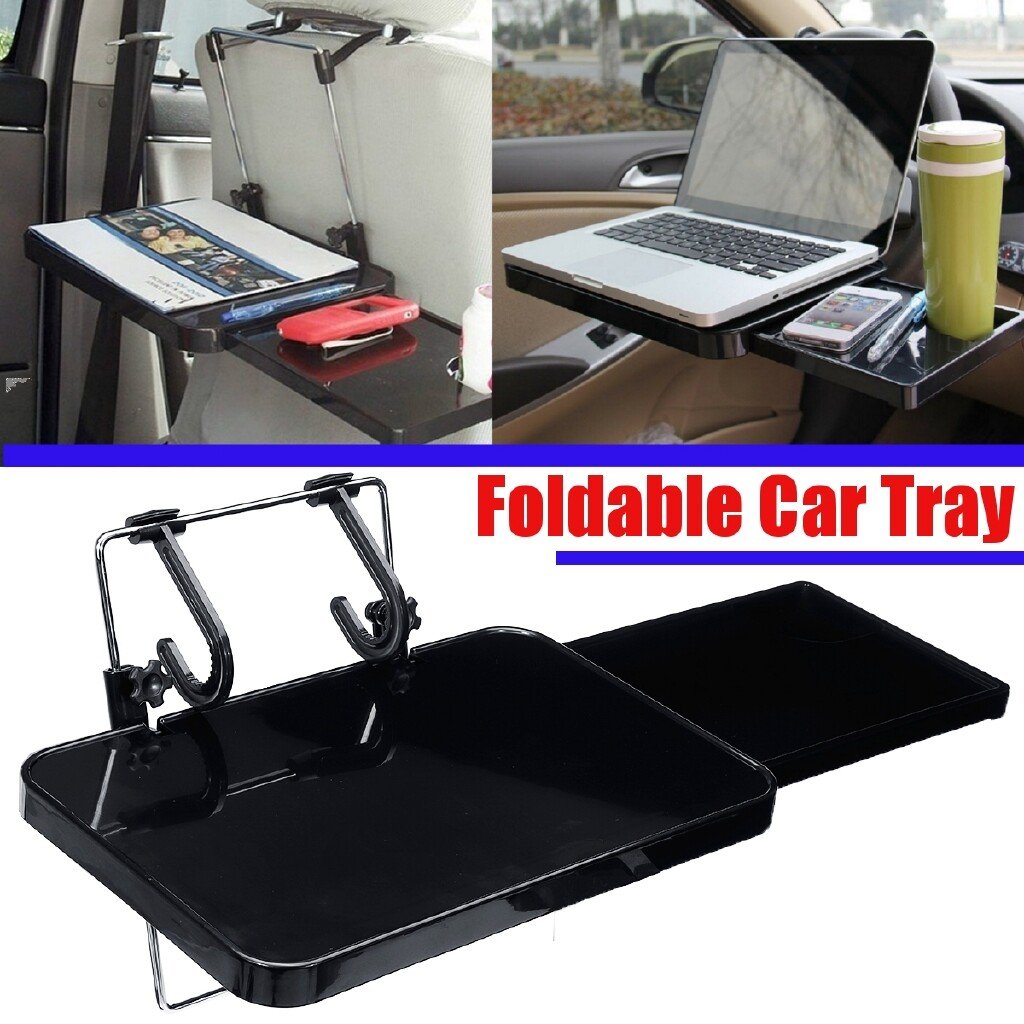 Organizers - Foldable Car Steering Wheel Back Seat Tray Laptop/Notbook Food/drink Holder - Car Accessories