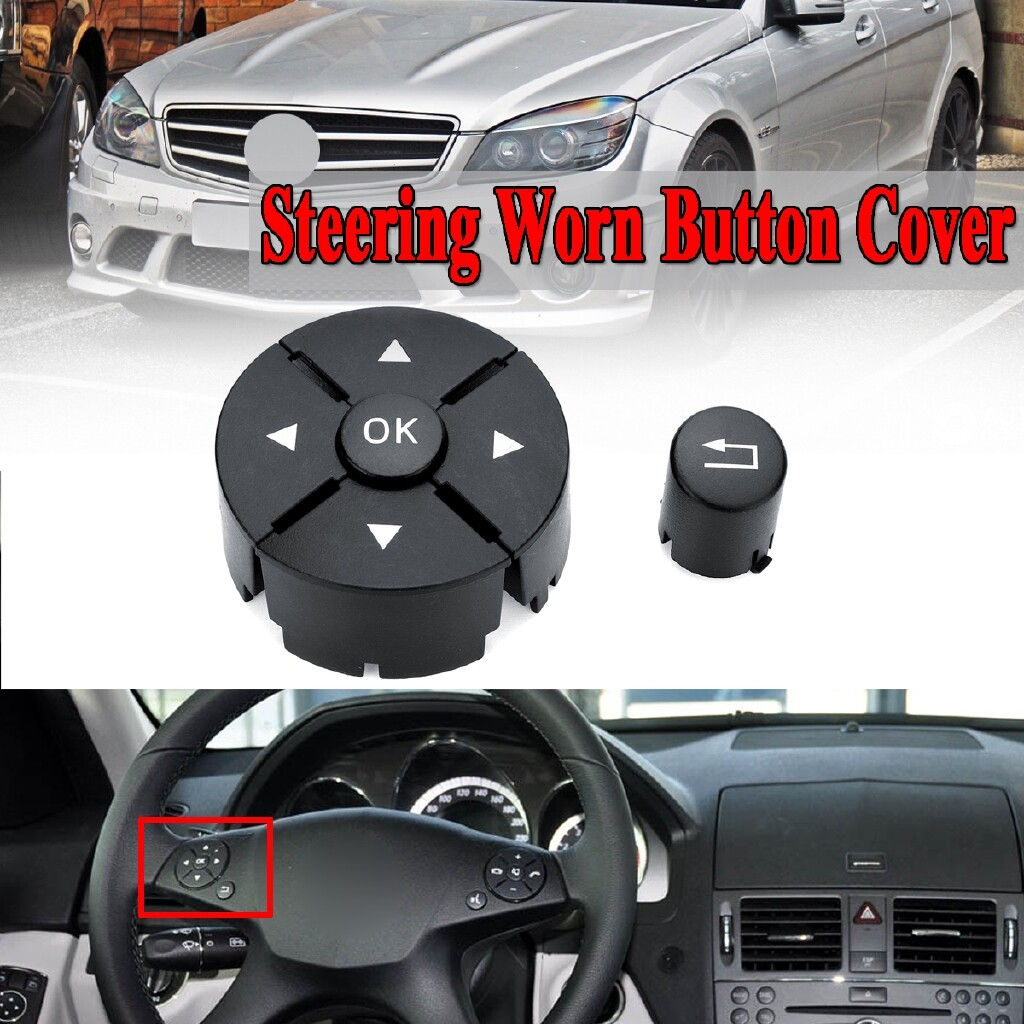 Automotive Tools & Equipment - Left Steering Wheel Buttons Cover Kit For Mercedes Benz C/E/GLK Class W204 W212 - Car Replacement Parts