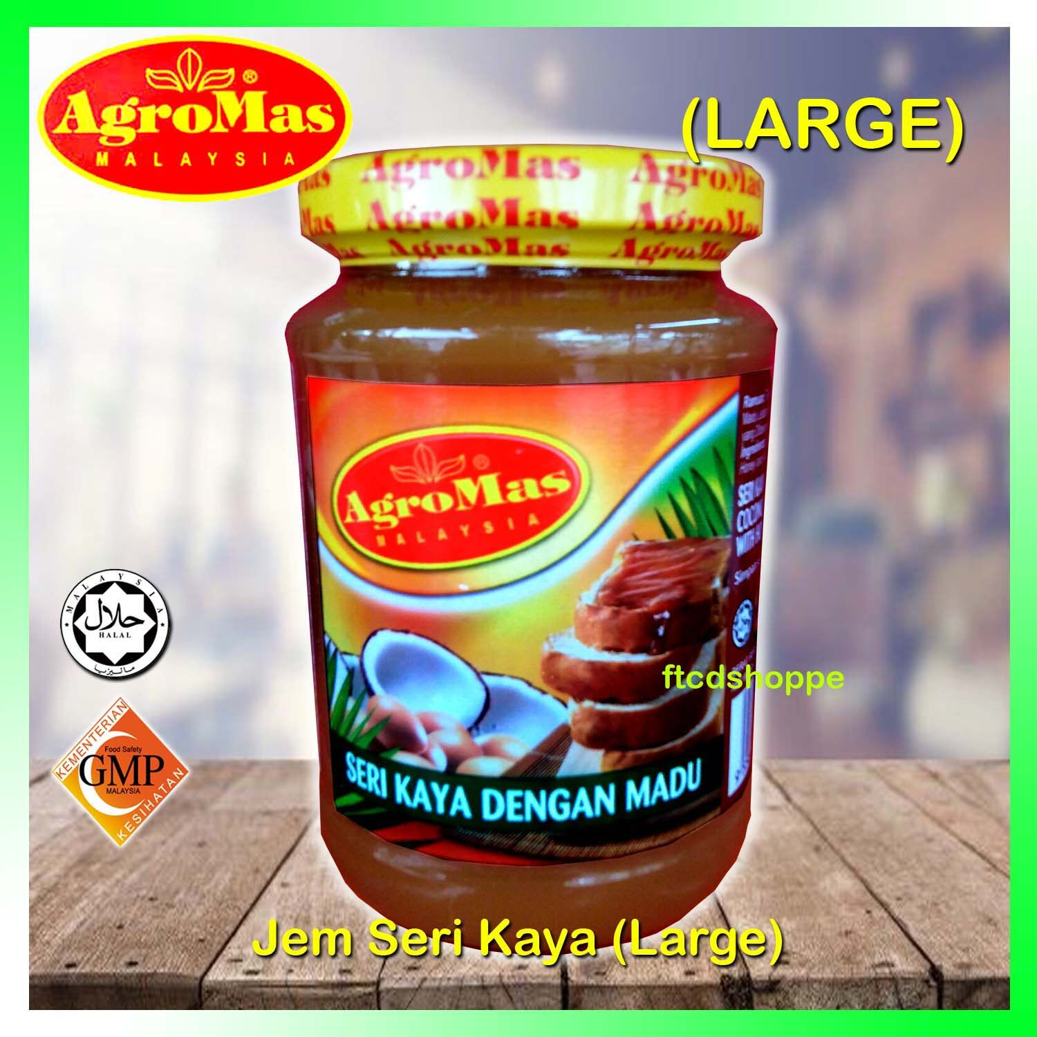 (KASI MURAH !) AGROMAS Jem Seri Kaya Dengan Madu / Coconut Spread With Honey ( LARGE - 450 g )