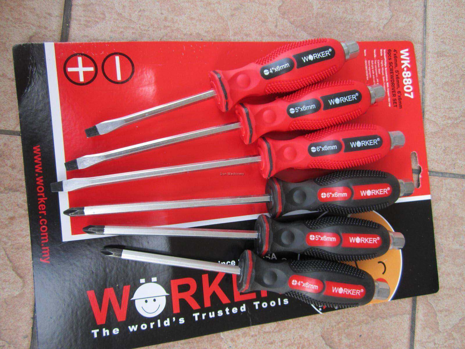 Worker WK-8808 6Pcs Go-Through Screw Driver Set