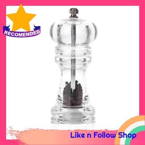 Acrylic Manual Pepper Grinder Salt Spices Mill Shaker Transparent Kitchen Grinding Tool