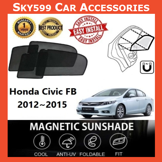 Honda Civic 2012-2015 Magnetic Sunshade ?4pcs?