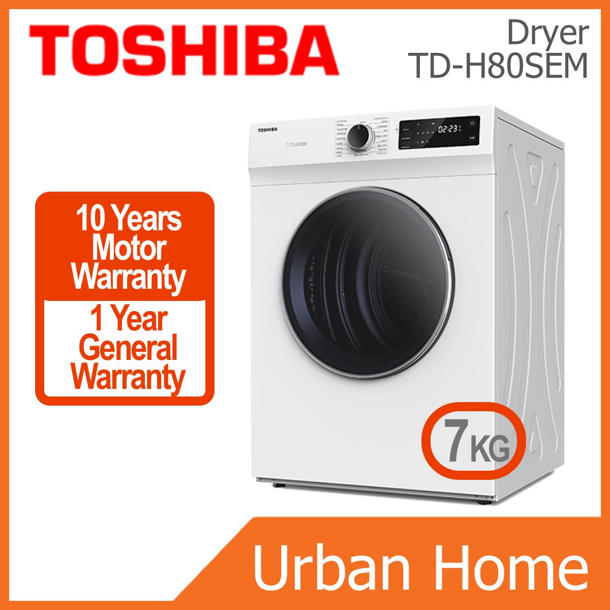 TOSHIBA 7kg Sensedry Tumble Dryer (TD-H80SEM/TDH80SEM)